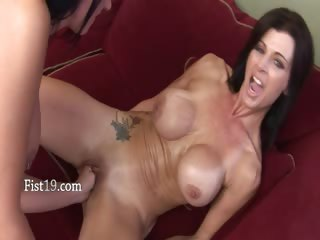 Brutal vagina fisting of two babes