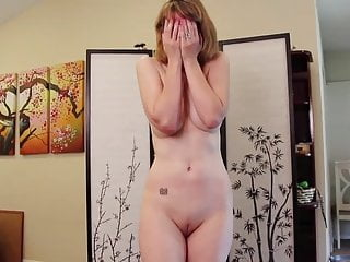 Divorced MILF demeaning striptease video