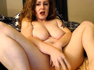 Lustful ginger MILF Lila Vega with big Bristols squirts a entirety