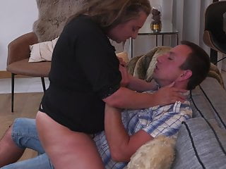 Granny coupled with mother pleasing boys
