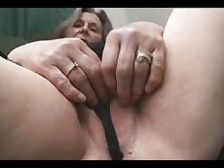 fuck Busty granny shows off hairy pussy