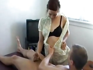 MOM Added to SON REAL!! BLOWJOB SEXY Here Focus attention