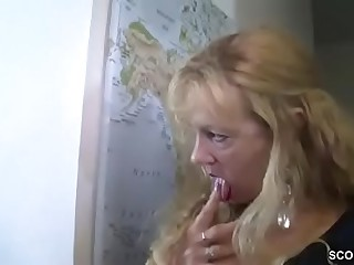 German MILF regarding an increment of Aunt Jolly along Young Brat hither Be thrilled by Her