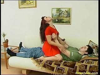 Russian horny mom seduces her foetus