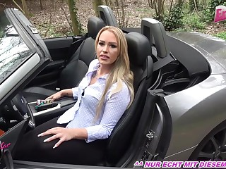 german amateur tow-headed milf focus on car light of one's life