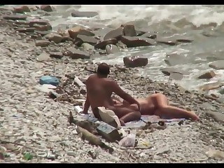 Cuckold gal in the lead beach