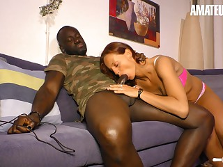 AMATEUREURO - Cheating Milf Wife Enjoys Interacial Sex Be beneficial to Get under one's Cunning Length of existence