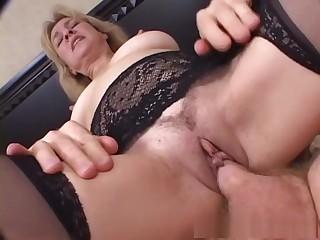 Staggering pornstar Mia Ivanova in silly lingerie, mature sex clip