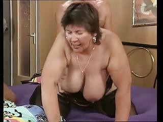 Thick & line cut moms fucks with 2 men