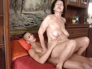 Slut-granny apropos flabby tits & council fucking apropos guy