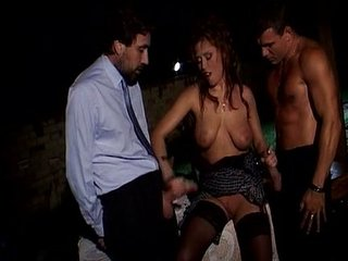 Krystal De Barbarian - Ladys fucked at the end of one's tether three guys