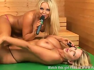 Sophie Hart & Leigh Darby upstairs screen together
