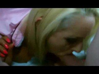 Blonde slosh lets old boys ban her bareback