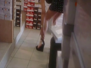 Upskirt fro Shoe Store BVR