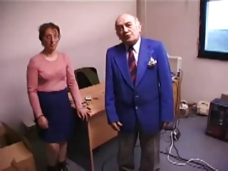 Ugly Lady Fucks Added to Licks Old Man's Ass