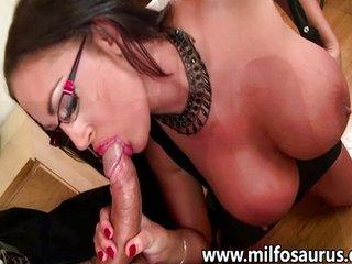 Big titties MILF gets fucked and creamed