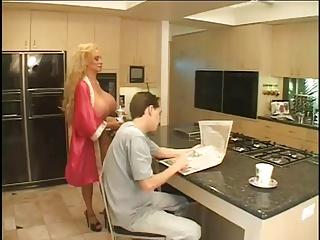 Stepmom Gives a big titty treat