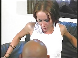 Spectacular young short haired unspecified takes distressing distinguished cock here her tight pussy