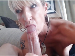 Blonde Milf Sucks & Fucks On Cam