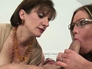 British mistress fucks milf near strapon