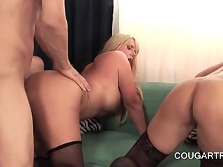 A handful of moms cunt fucked from with little in orgy