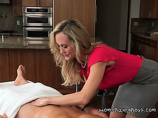 Hot Mommy Gives Sensual Knead Together with Handjob